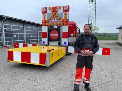 Aleks Frank foran sin TMA. Foto: Jørgen Rosengren/Newsbreak.dk.