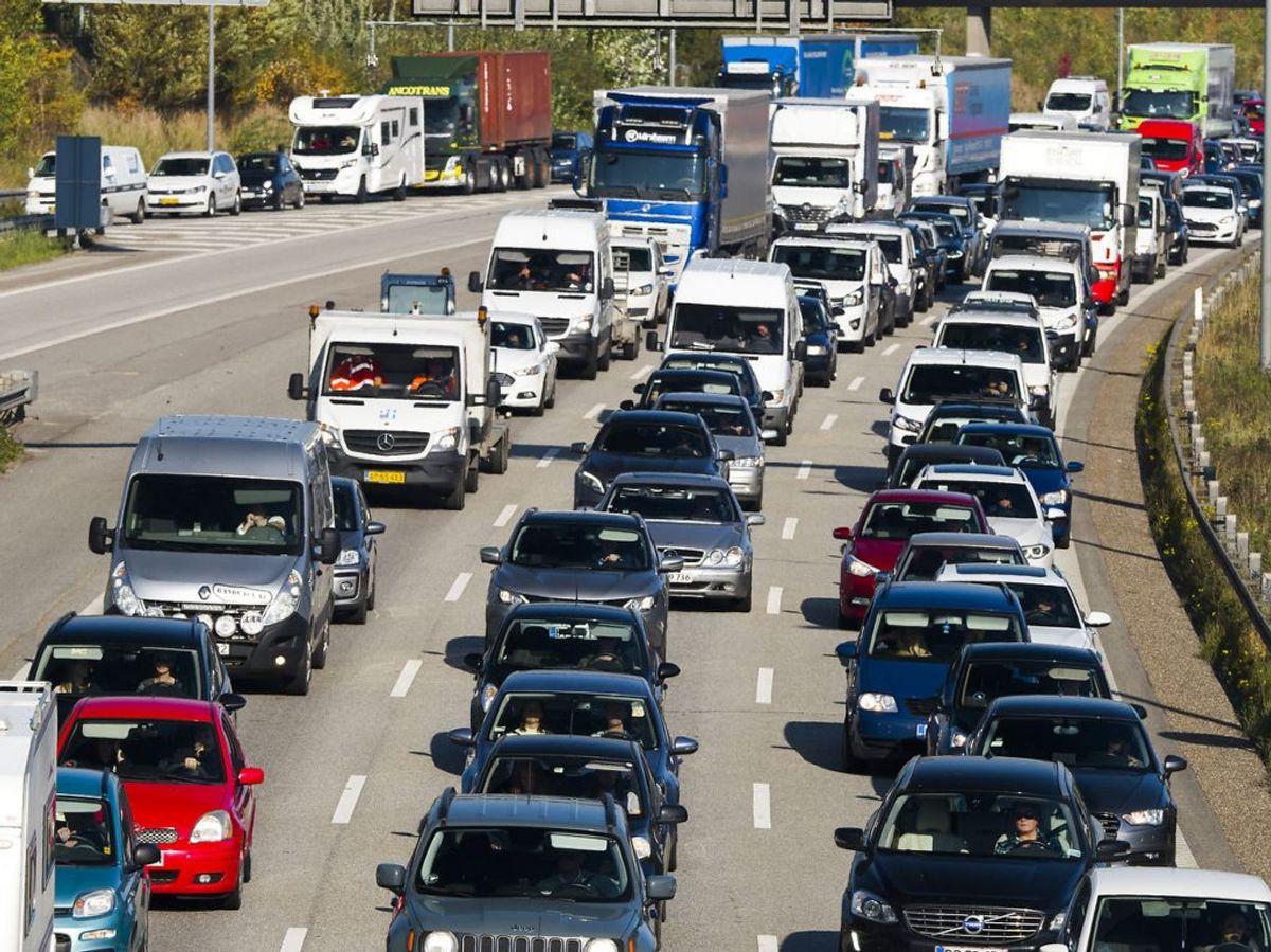 Der forventes øget trafik på vejen i forbindelse med ferien. Foto: Torben Klint/Scanpix