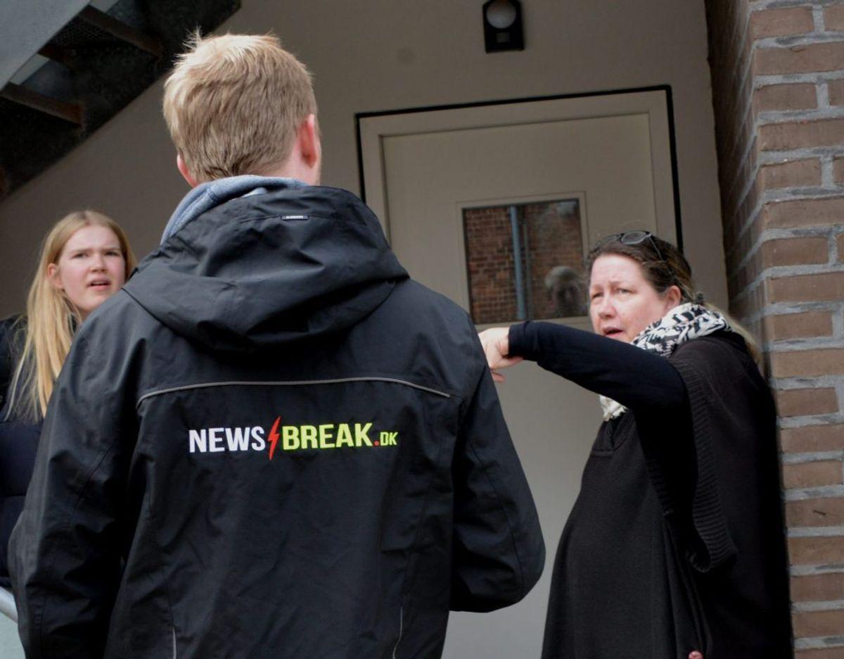 Karina Toft var vidne til at gavlen styrtede ned. Foto: Peter Langwithz Smith.