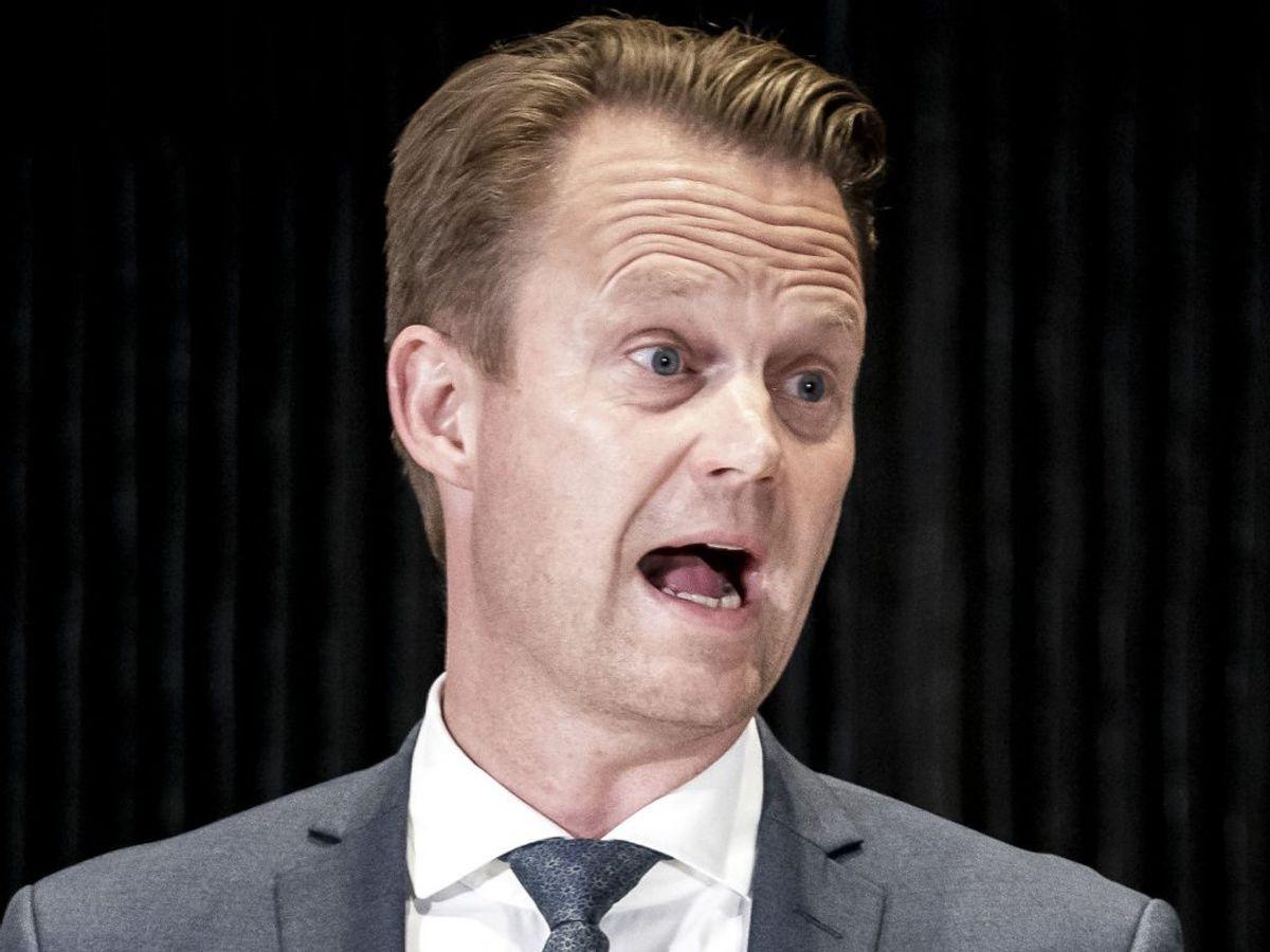 Udenrigsminister Jeppe Kofod har sammen med regeringen i dag fået kritik fra samtlige partier i Folketinget, undtagen Socialdemokratiet, for ikke at have delagtiggjort Det Udenrigspolitiske Nævn i vurderinger fra Forsvarets Efterretningstjeneste. (Foto: Mads Claus Rasmussen/Ritzau Scanpix)