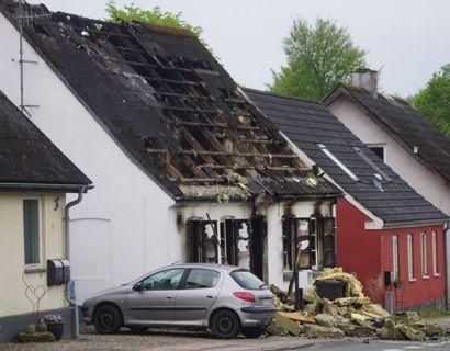 To børn døde i en brand. Nu er efterforskningen afsluttet. Foto: Presse-fotos.dk.