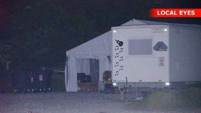 En brand i et testcenter i Liseleje er muligvis påsat, lyder det fra politiet. Foto: Local Eyes