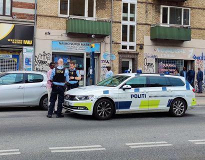 Politiet arbejder på Frederiksundsvej i København. Foto: Presse-fotos.dk