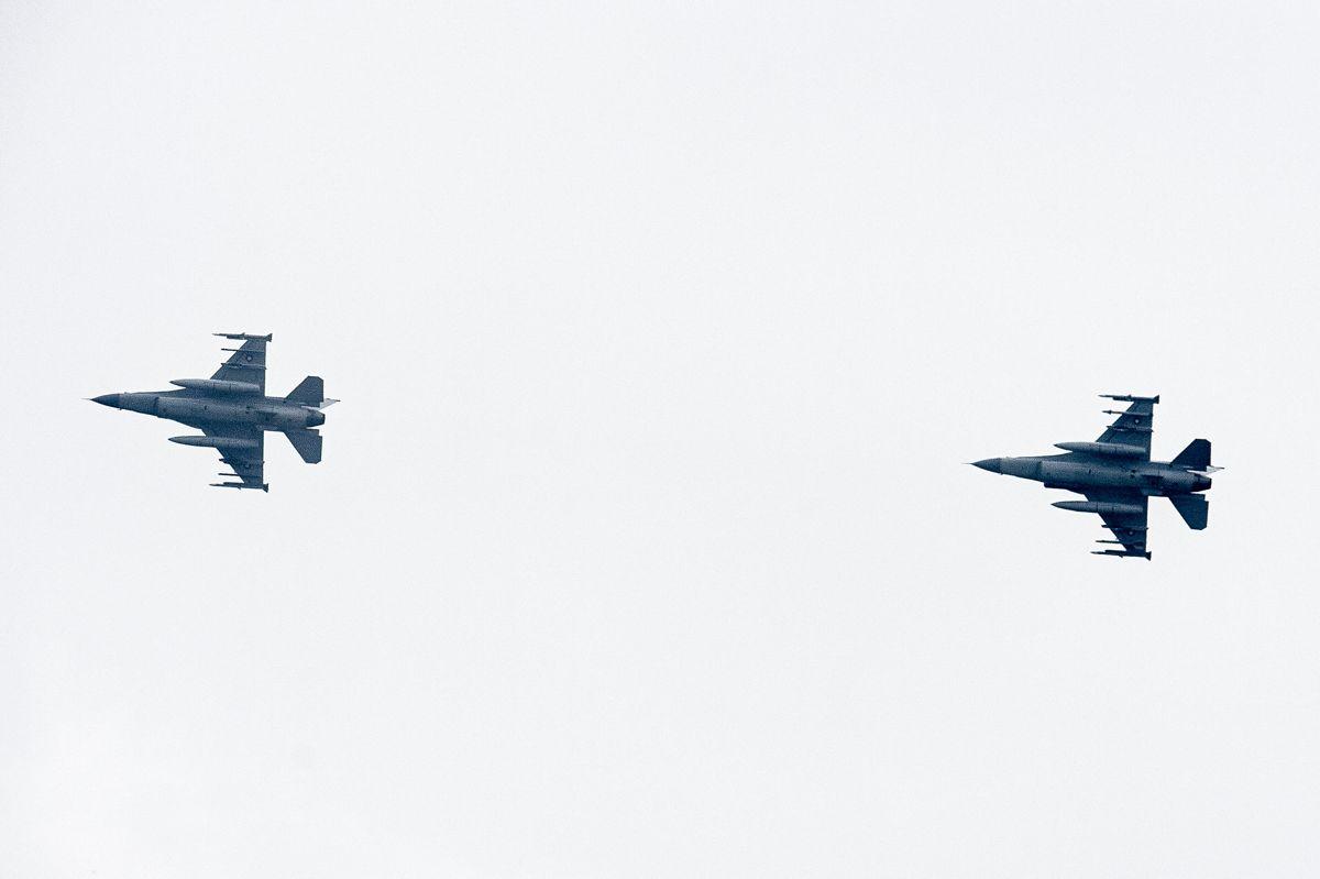 Det er ikke første gang, danske jagerfly må markere sig i dansk luftrum. Foto: Scanpix/Mads Claus Rasmussen