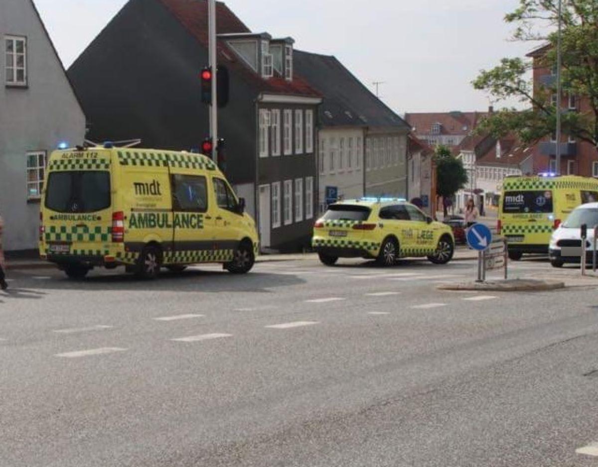 Ingen personer kom noget alvorligt ti. Foto: Øxenholt Foto.