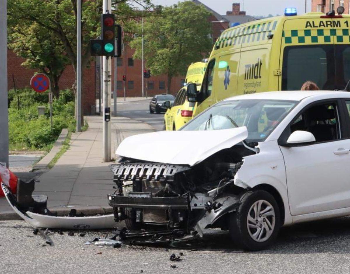Uheldet blev anmeldt torsdag morgen. Foto: Øxenholt Foto.