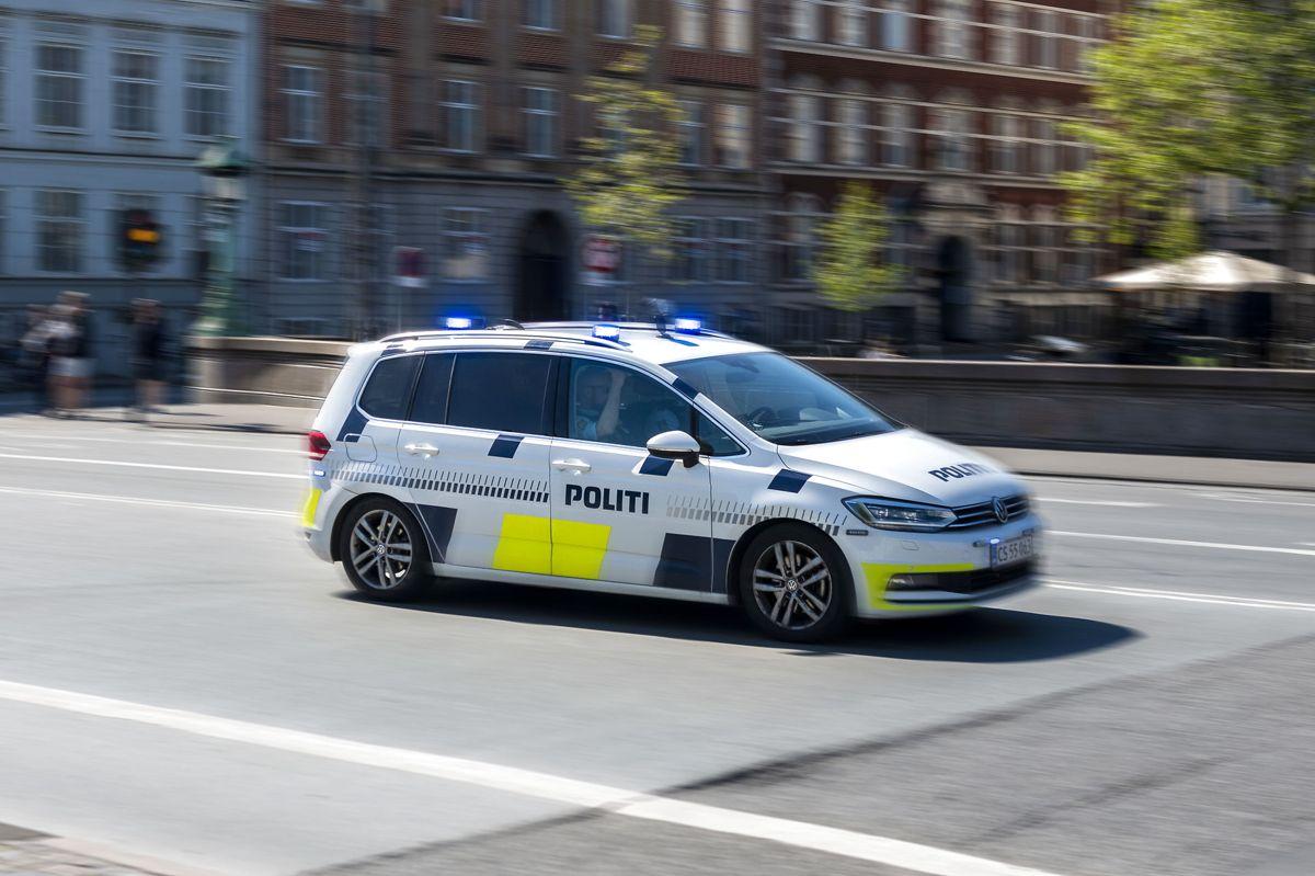 Politiet i Rødvig fik travlt med at indhente den unge vanvidsbillist. Foto: Christian Lindgren
