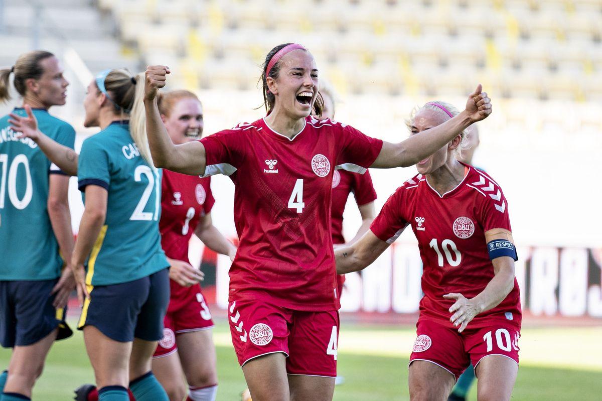 Rikke Sevecke var den eneste dansker, der blev noteret for et mål i 3-2-sejren over Australien.