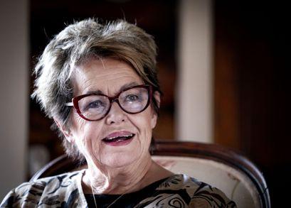 86-årige Ghita Nørby døjer med øjensygdommen våd AMD (alderspletter på nethinden). Foto: Liselotte Sabroe/Ritzau Scanpix