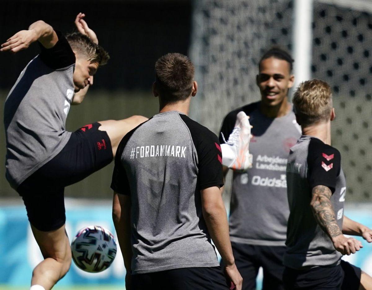 Fra dagens træning på Helsingør Stadion. Foto: Mads Claus Rasmussen/Ritzau Scanpix