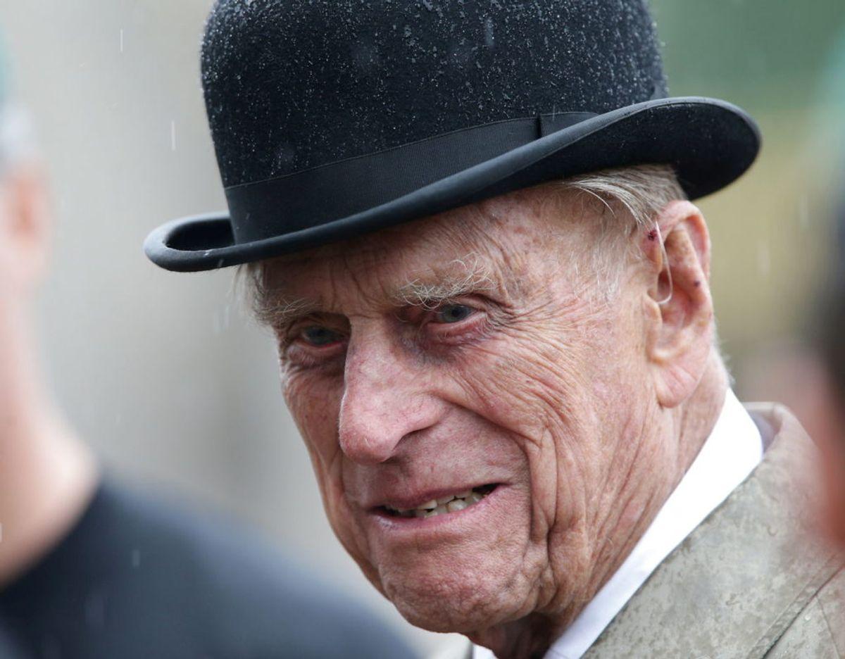 Prins Philip kunne den 10. juni være fyldt 100 år. Men han nåede det ikke. Prinsen sov stille ind den 9. april, blot to måneder inden sin store dag. Foto: Scanpix/REUTERS/Yui Mok/Pool/File Photo
