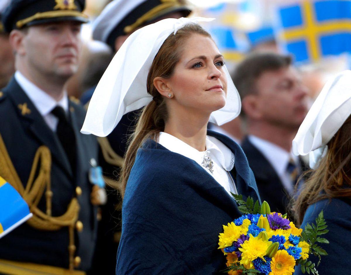 Normalt ville prinsesse Madeleine været hjemme på den svenske nationaldag, men det har corona-pandemien forhindret de seneste to år. Foto: Scanpix/TT News Agency/Maja Suslin/via REUTERS
