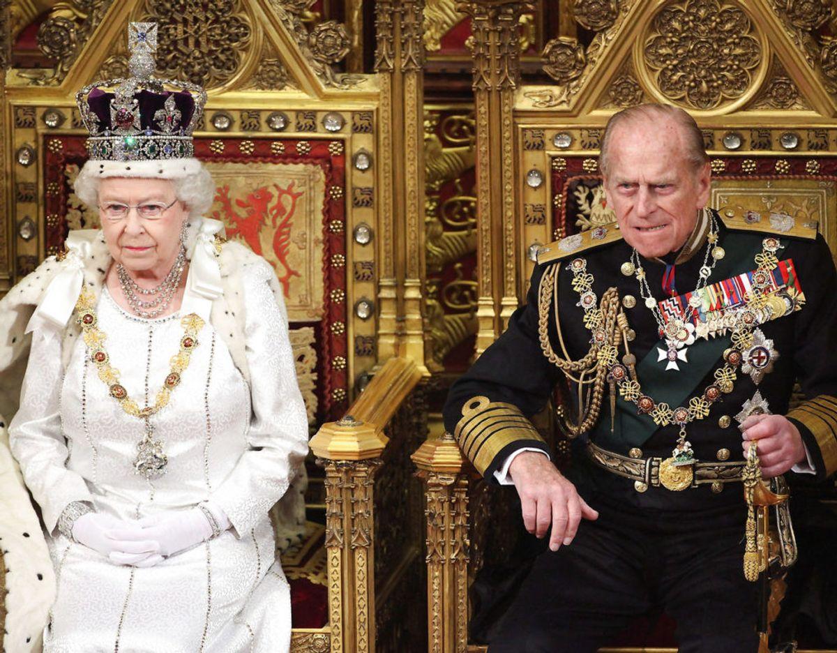 Dronning Elizabeth og prins Philip havde været gift i næsten 73 år, da han sov ind på Windsor Castle den 9. april i år. Foto: Scanpix/REUTERS/Oli Scarff/POOL/File Photo
