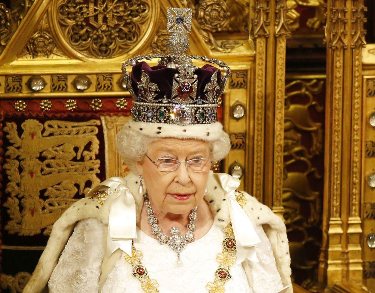 Den britiske dronning kan i 2022 fejre 70 års jubilæum som regent for Storbritannien. Foto: Scanpix/REUTERS/Alastair Grant/Pool