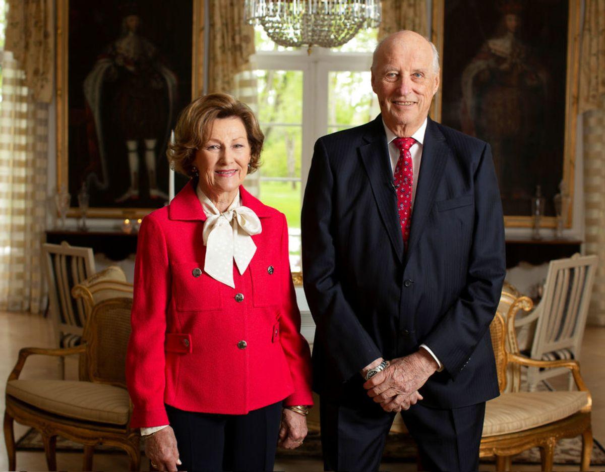Det norske kongepar, kong Harald og dronning Sonja, var færdigvaccinerede den 4. februar. Foto: Scanpix/Erik Edland/ TV2 / NTB scanpix / via REUTERS