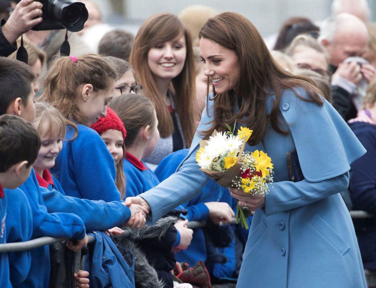 Hertuginde Kate er 178 centimeter og blandt de højeste kvinder i kongehuset. Foto: Scanpix