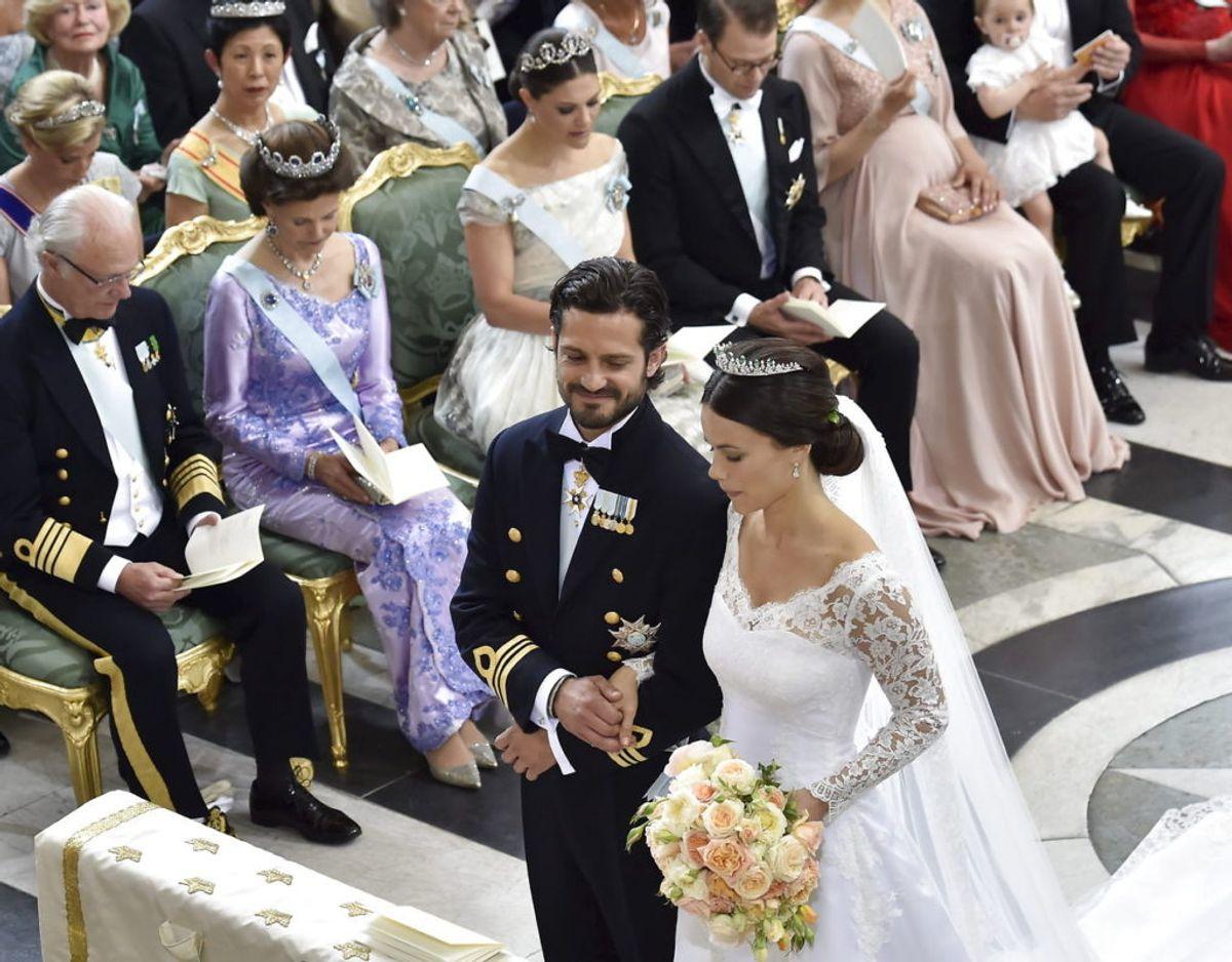 Fra prins Carl Philips og Sofias bryllup den 13. juni 2015. Foto: Scanpix/REUTERS/Jonas Ekstromer/TT News Agency