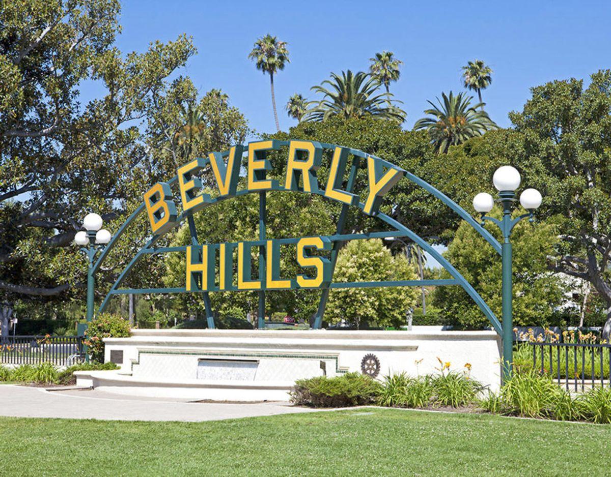 Beverly Hills hvor stjernens ejendom er beliggende regnes for den sikreste bydel i hele Los Angeles. Foto: Scanpix