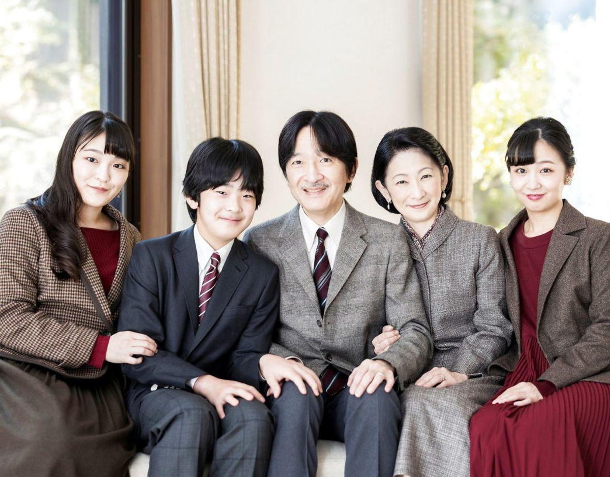 Den japanske kronprinsfamilie. Klik videre for flere billeder. Foto: Scanpix/Imperial Household Agency of Japan/Handout via REUTERS