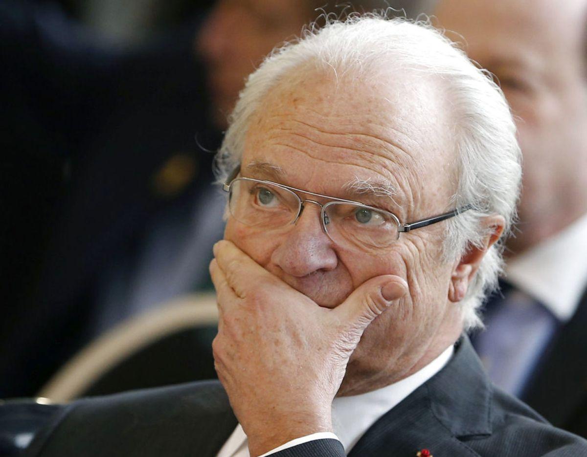 Kong Carl Gustaf er øverste protektor for det svenske Cancerfonden. Foto: Scanpix/REUTERS/Regis Duvignau