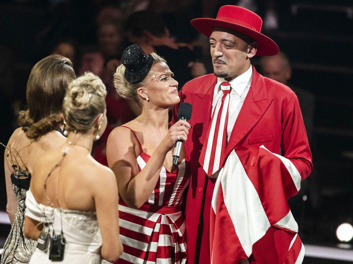 Sanger Wafande og Mie Martha Moltke. Fredag aften var det farvel til det populære danseprogram. (Foto: Martin Sylvest)