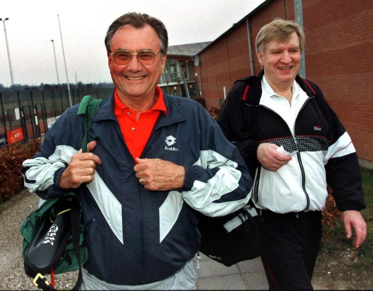 Prins Henrik og Knud Roding var i årtier tennismakkere. Foto: Scanpix