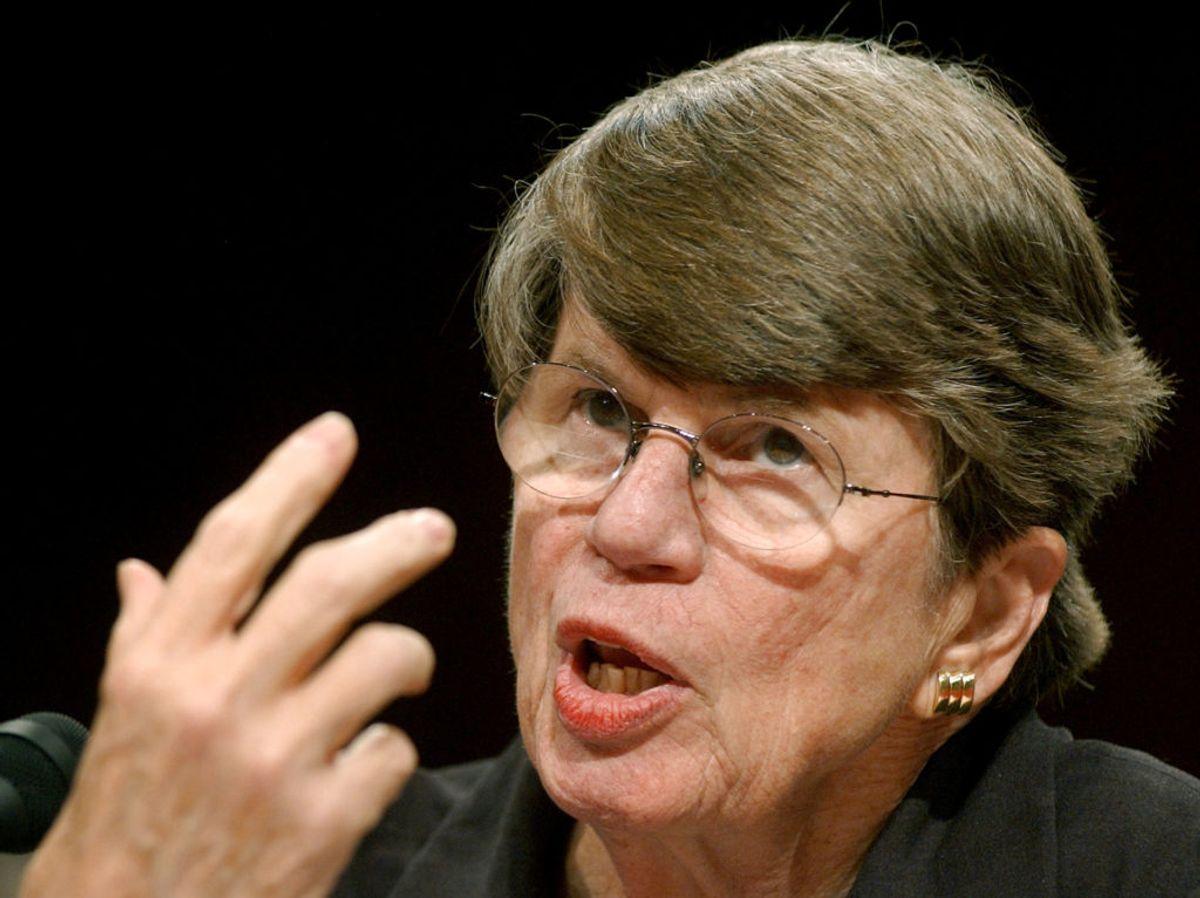 Den tidligere amerikanske justitsminister Janet Reno led af Parkinsons mens hun stadig arbejdede. Foto: Jonathan Ernst/Scanpix.