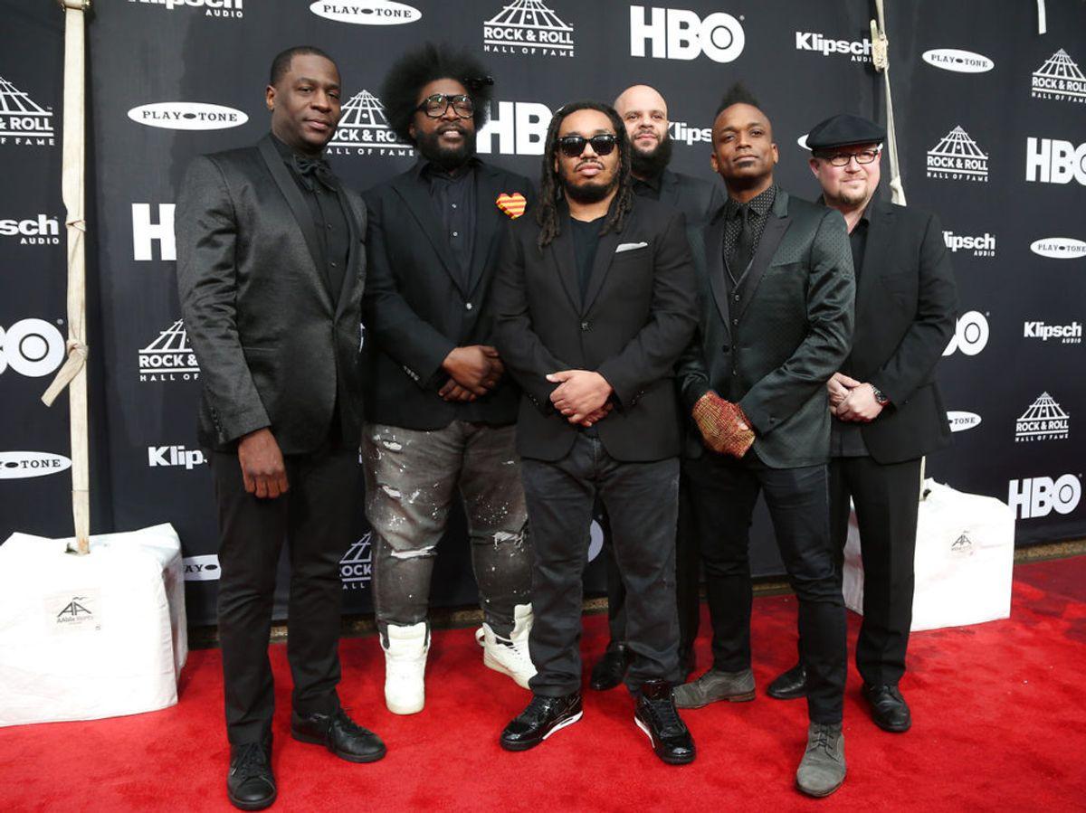 Rapperen Malik B. fra bandet The Roots er død. Han blev 47 år gammel. Foto: REUTERS/Aaron Josefczyk