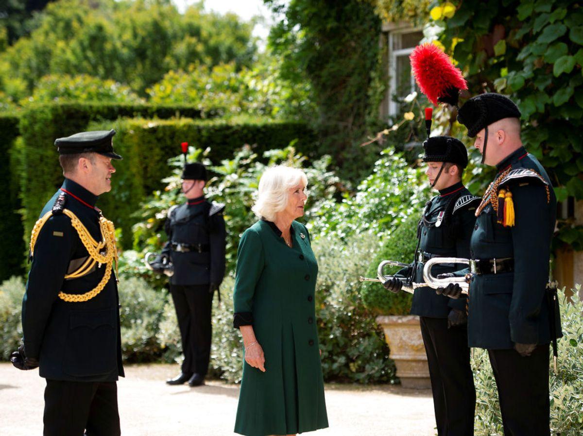 Hertuginde Camilla overtog en militærtitel, som tidligere har tilhørt prins Philip. Foto: Geoff Pugh/Pool via REUTERS