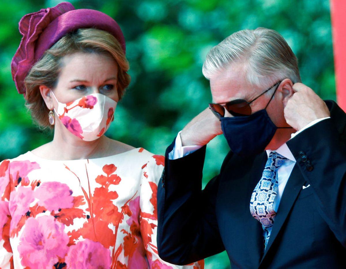 Det belgiske kongepar, dronning Mathilde og kong Philippe. Klik videre i galleriet for flere billeder. Foto: Scanpix/REUTERS/Francois Lenoir