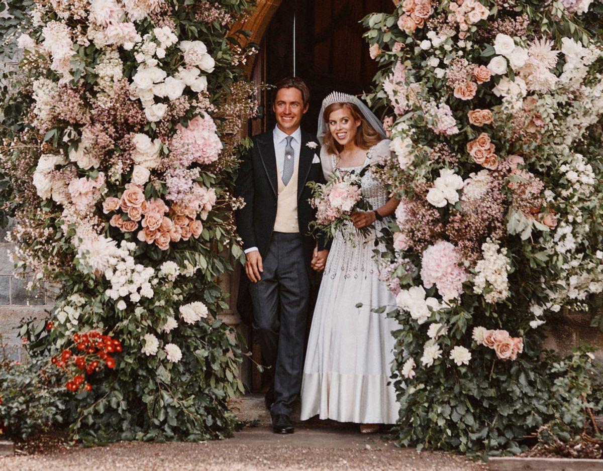 Et af de officielle foto fra det hemmelige bryllup. Klik videre i galleriet for flere billeder. Foto: Scanpix/Benjamin Wheeler/Pool via REUTERS
