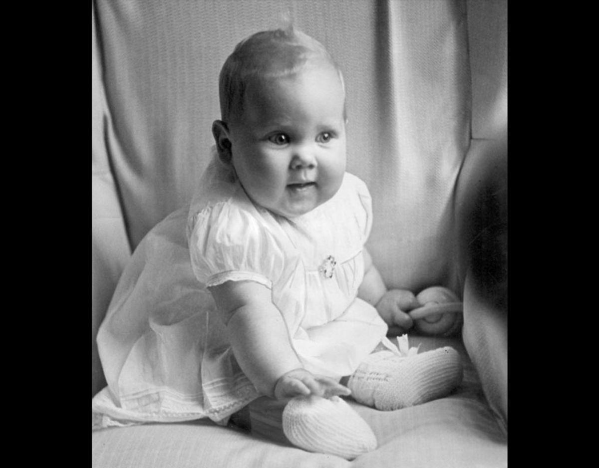 1940: Prinsesse Margrethe som baby. Foto: SCANPIX
