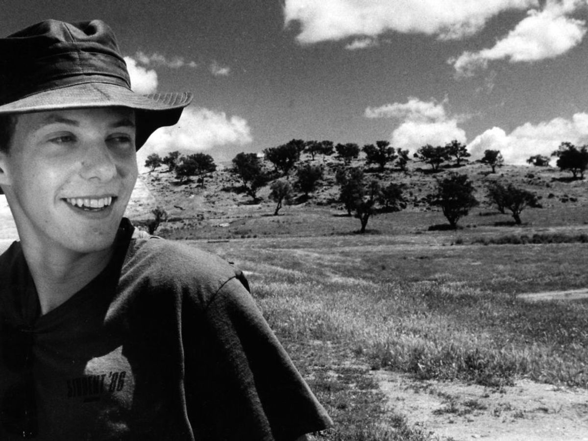 1986: Prins Joachim 17 år på tur til Australien. Foto: SCANPIX