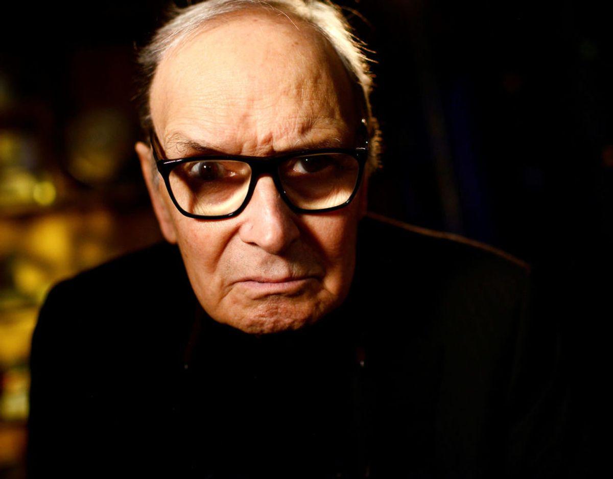 Komponisten Ennio Morricone er død. Foto: Scanpix