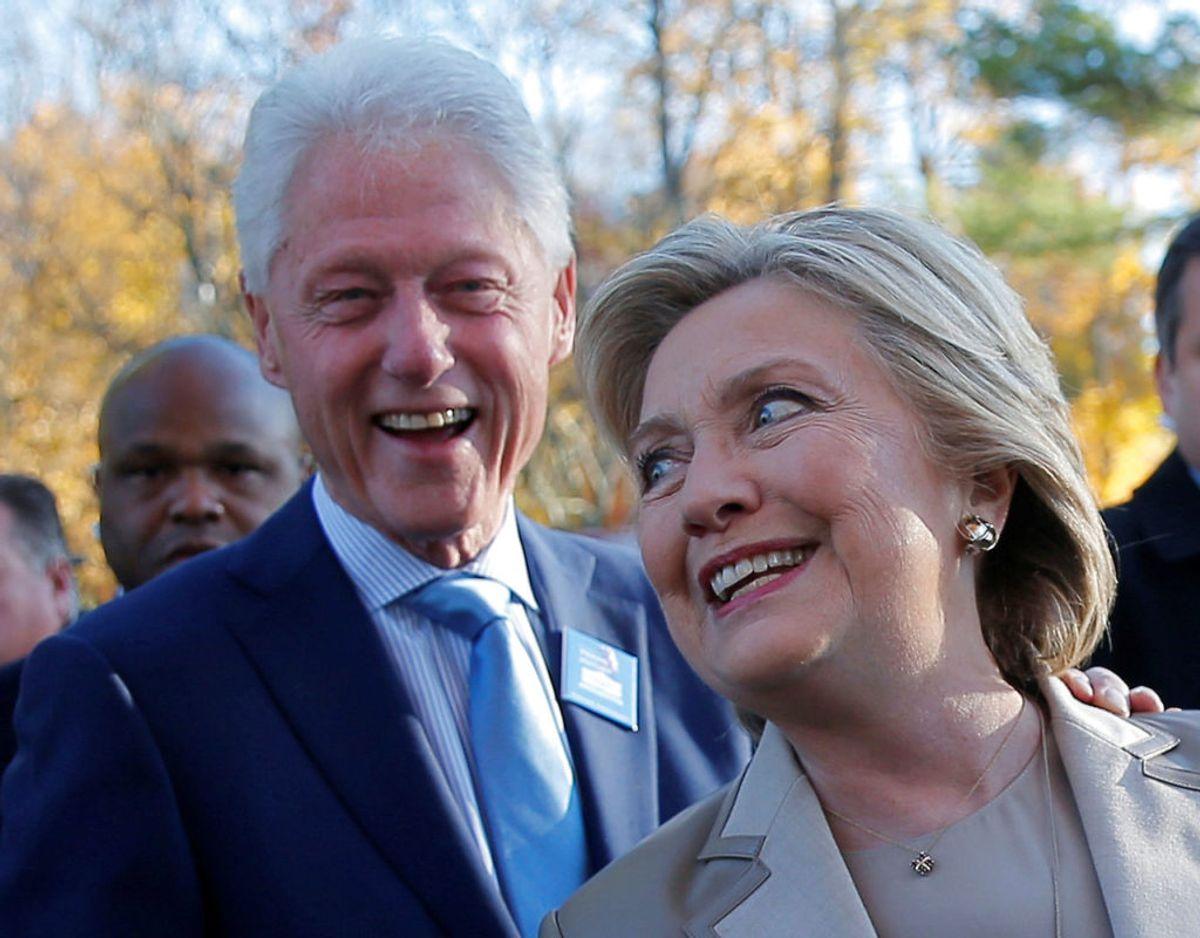 Også Bill og Hillary Clinton er på Harry Walker Agency holdet. Foto: Scanpix/REUTERS/Brian Snyder