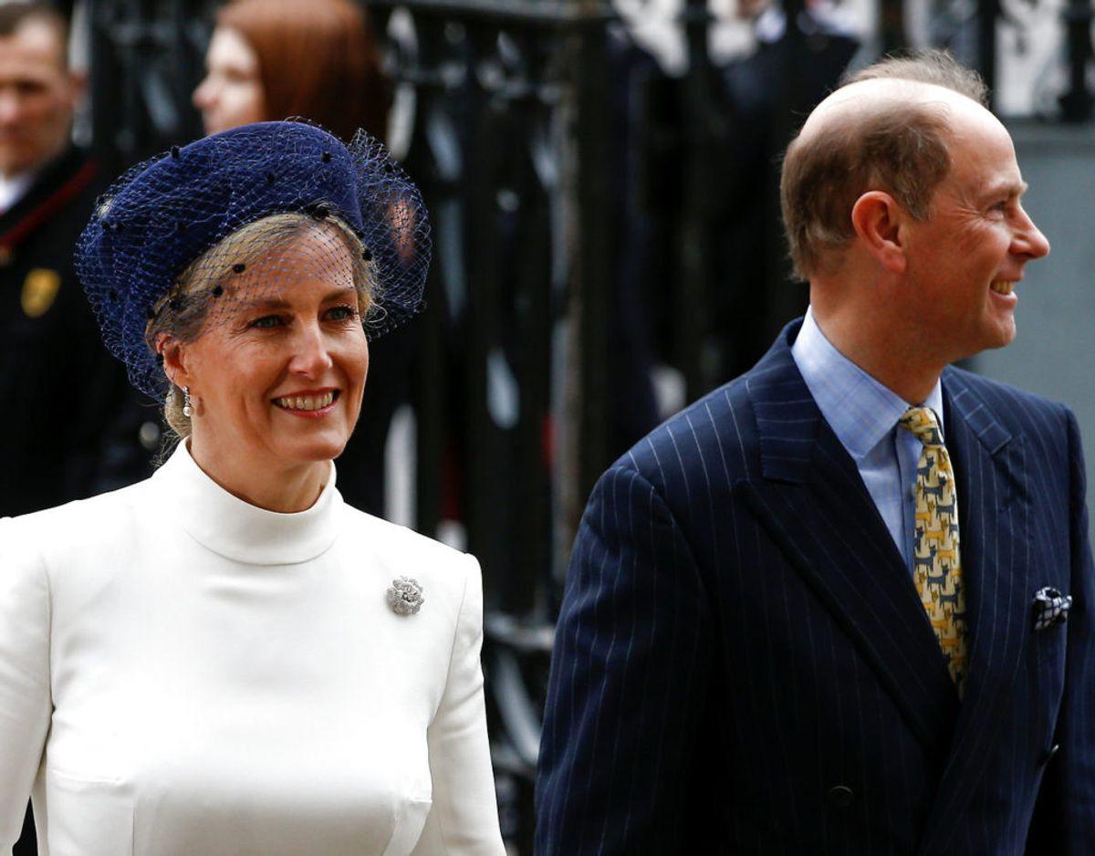 Grevinde Sophie og prins Edward havde kendt hinanden i fem og og boet sammen på Buckingham Palace i seks måneder som forlovede, inden de blev gift. Klik videre for flere billeder. Foto: Scanpix/REUTERS/Henry Nicholls