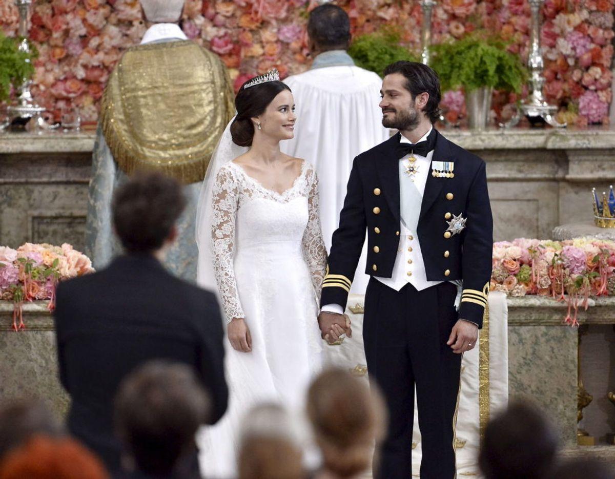 Prins Carl Philip og prinsesse Sofia blev gift i juni 2015 og kan således snart fejre fem års bryllupsdag. Parret har to børn, sønnerne Alexander på fire og Gabriel på to år.REUTERS/Claudio Bresciani/TT News Agency