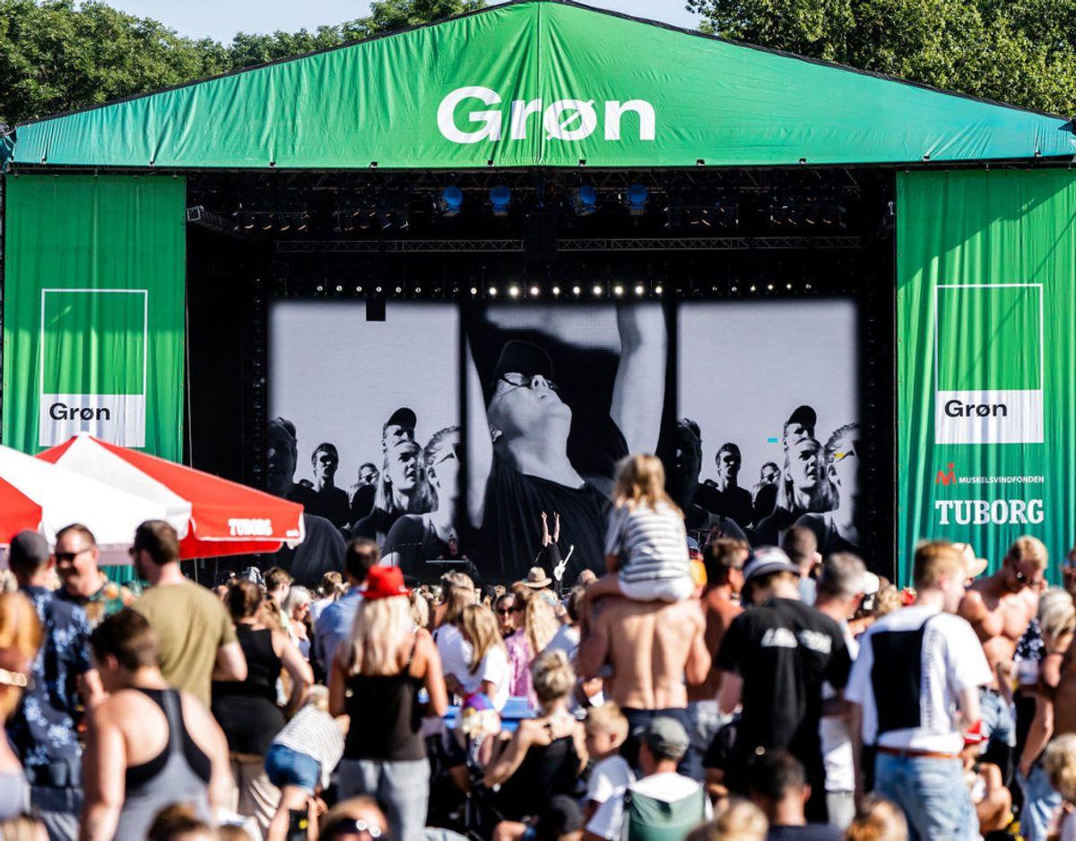 Grøn koncert i 2020 bliver ikke, som folk kender den. Men der bliver spillet livemusik.  Foto: Ida Marie Odgaard/Ritzau Scanpix