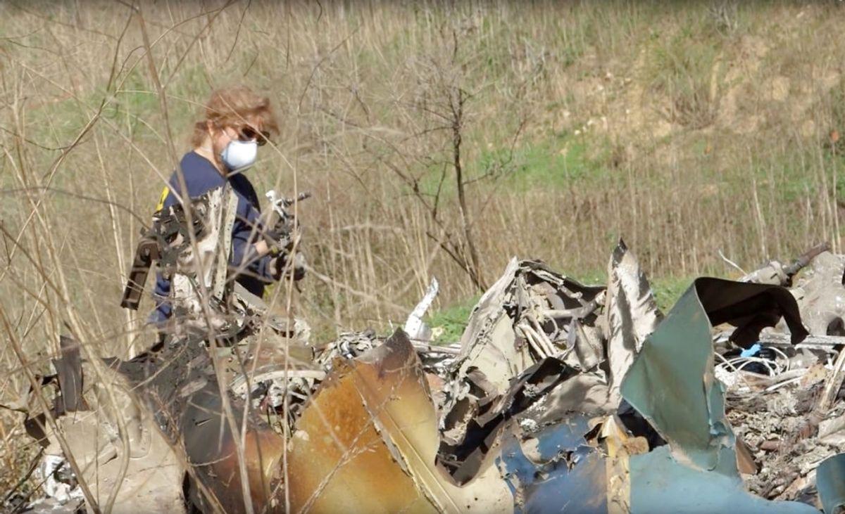 Sådan så det ud efter styrtet. Foto: National Transportation Safety Board. NTSB/Handout/Scanpix.