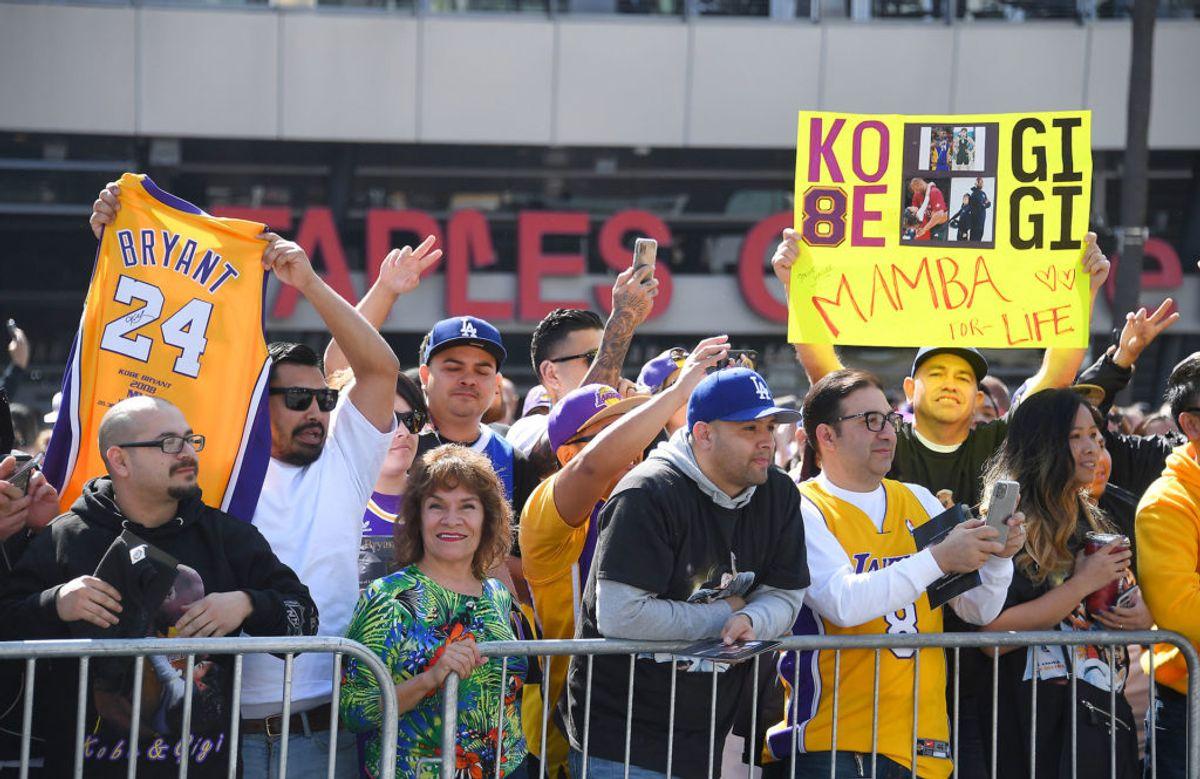 Fans hylder Kobe Bryant. Foto: Jayne Kamin-Oncea-USA TODAY Sports/Scanpix.