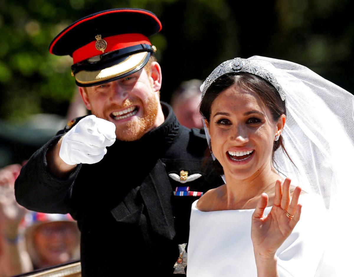 Harry og Meghan blev gift i St George's Chapel på Windsor Castle den 19. maj 2018. Klik videre for flere minder om parret. Foto: Scanpix/REUTERS/Damir Sagolj/File Photo
