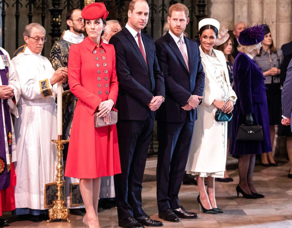 De blev kaldt 'de fantastiske fire' men allerede kort efter Harry og Meghans bryllup opstod der rygter om, at de var i konflikt med prins William og hertuginde Kate. Klik videre for flere minder. Foto: Scanpix/Richard Pohle/Pool via REUTERS