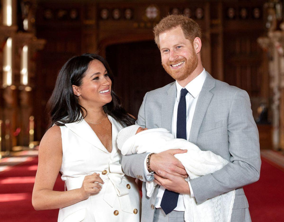 Meghan fødte parrets søn Archie den 6. maj 2019. Et par dage senere blev han præsenteret for offentligheden. Klik videre for flere minder. Foto: Dominic Lipinski/Pool via REUTERS/File Photo. (Foto: POOL New/Ritzau Scanpix)