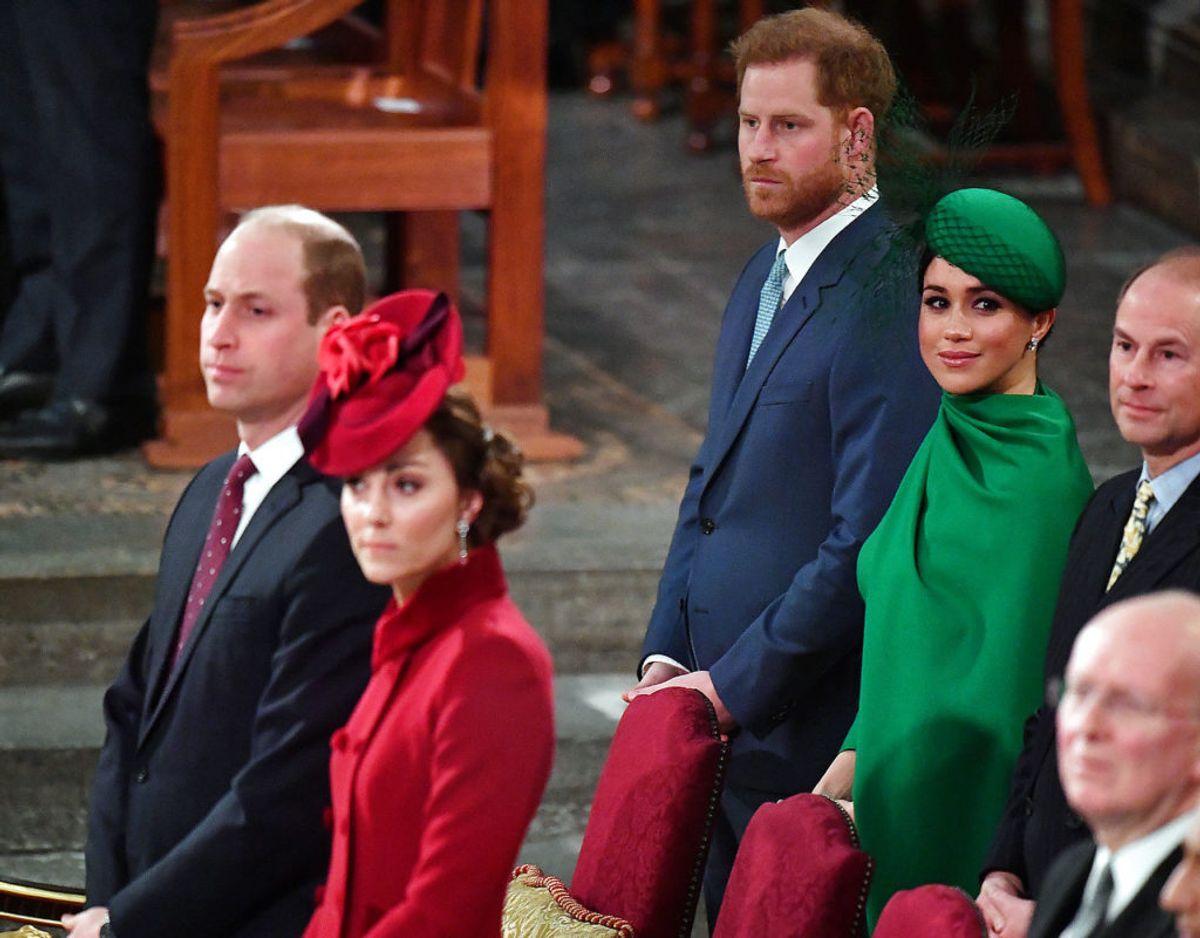 Parret sidste officielle optræden som royale var deltagelse ved gudstjenesten i Westmisnster Abbey i forbindelse med Commonwealth Day den 9. marts 2020. Klik videre for flere minder. Foto: Scanpix/Phil Harris/Pool via REUTERS