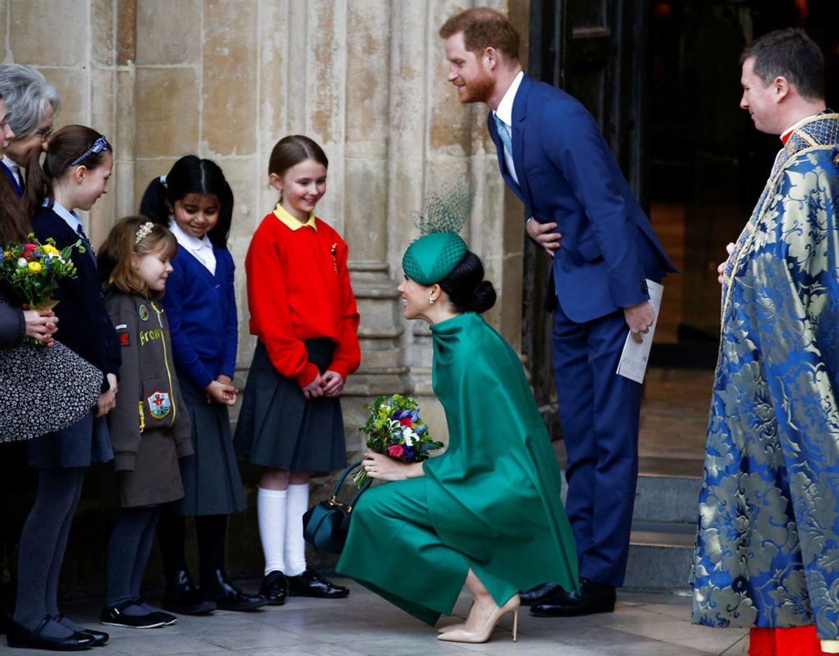 Det er slut. Harry og Meghan forlader Westminster Abbey den 9. marts 2020. Foto: Scanpix/REUTERS/Henry Nicholls