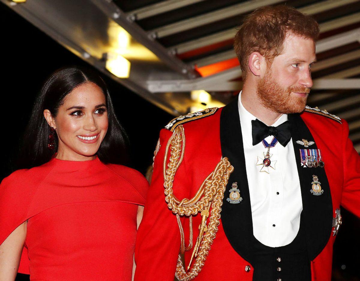Det er formentlig sidste gang, at Harry og Meghan deltager i et officielt royalt arrangement inden de mister deres kongelige titler. Foto: REUTERS/Simon Dawson/Pool