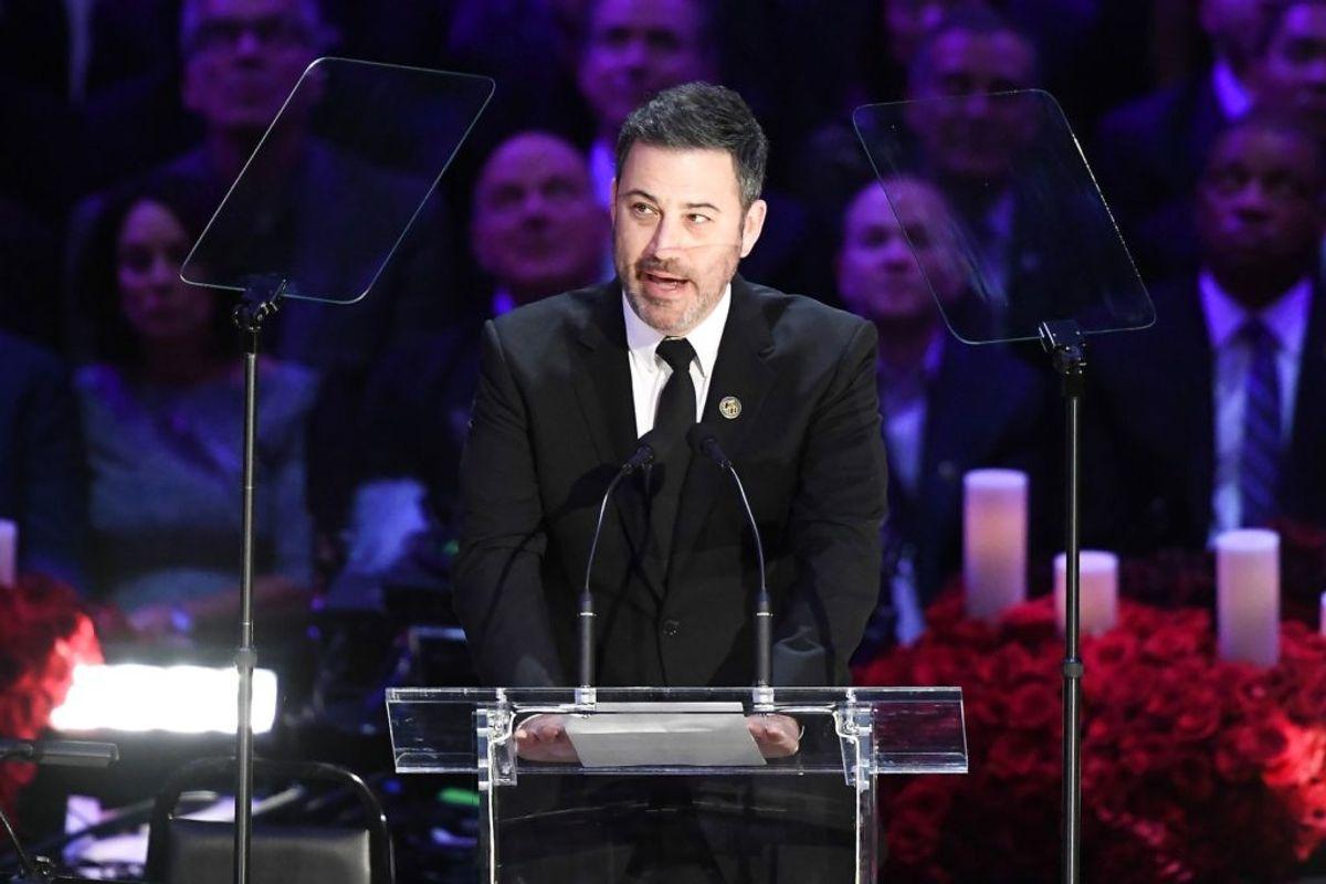 Også Jimmy Kimmel holdt tale. Foto: Kevork Djansezian/Scanpix.