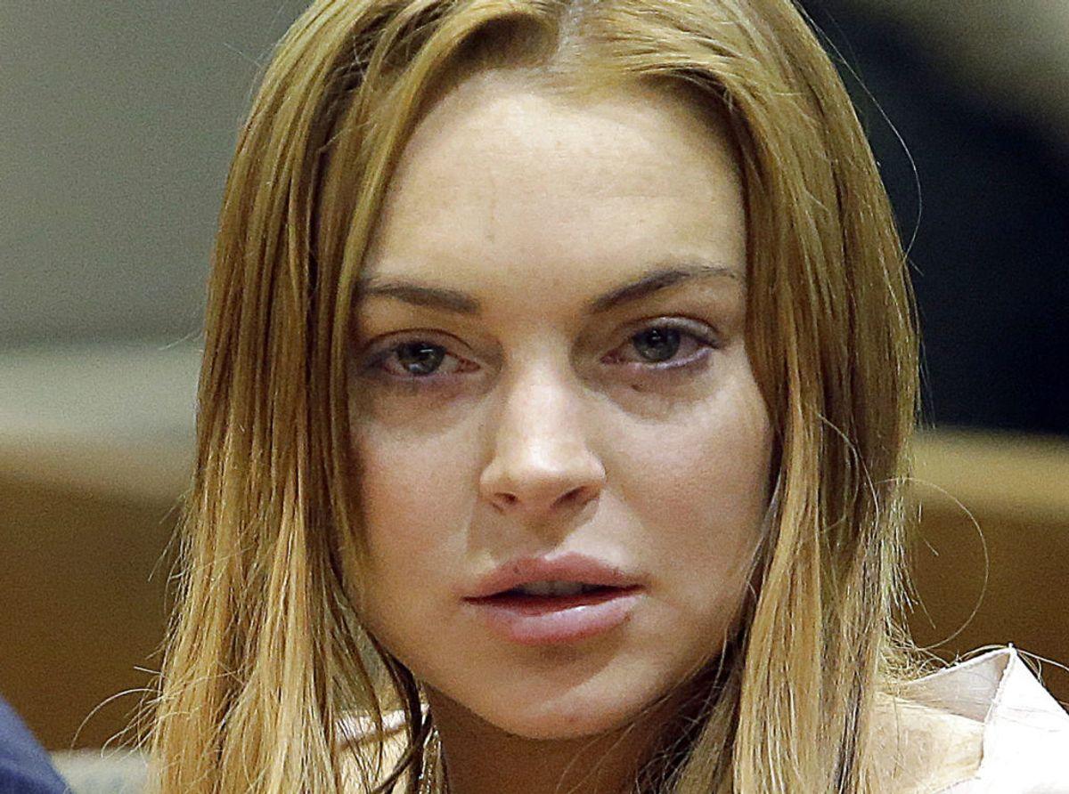 Skuespiller Lindsay Lohan, her fotograferet i retten, er plads nummer ni med 10 anholdelser: Hun har kørt bil påvirket, besiddelse af kokain, overfald og for at stikke af fra uheld. For nu at nævne nogle. Foto: Reed Saxon/Scanpix.