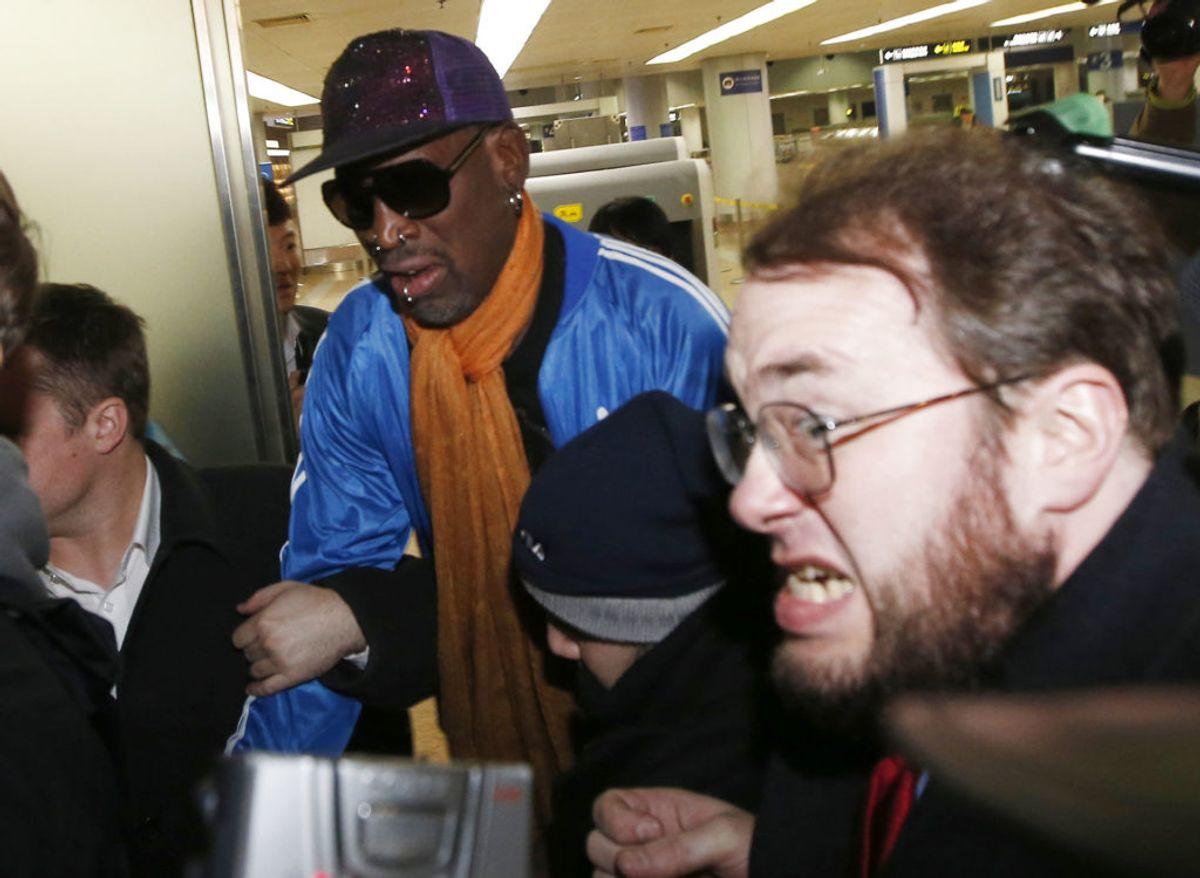 Basketballspilleren Dennis Rodman: Han har haft problemer med at drikke – og i den forbindelse at køre bil. Derudover blandt andet også husspektakler. I alt 12 anholdelser. Foto: Kim Kyung-Hoon/Scanpix.