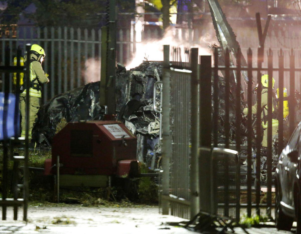 28. oktober 2018: Vichai Srivaddhanaprabha, der er ejer af den engelske fodboldklub Leicester City, omkommer i et helikopterstyrt. Styrtet sker på en parkeringsplads uden for klubbens stadion kort tid efter, at Leicester havde spillet 1-1 på hjemmebane. Foruden Vichai Srivaddhanaprabha mister fire andre livet i ulykken. Foto: Scanpix